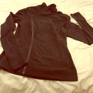 Lululemon Black double diagonal zipper jacket